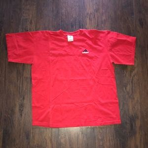 Vintage Adidas red t shirt